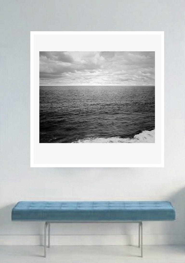 Ocean landscape photography - Atlantic Ocean n.1 - custom acrylic 20 x 30in. - Gray Color Photograph by Henning Bock