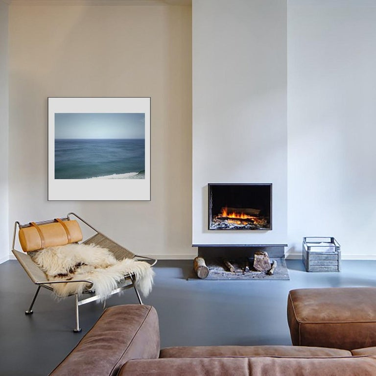 This is a color landscape photo of the Atlantic Ocean which is custom acrylic mounted, frameless and ready to install. It is also available as a black and white landscape photography of the Atlantic Ocean.   Other sizes are also available as