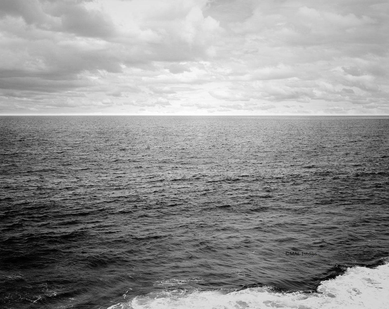 Black and white ocean landscape atlantic ocean bw n 2 custom acrylic piece