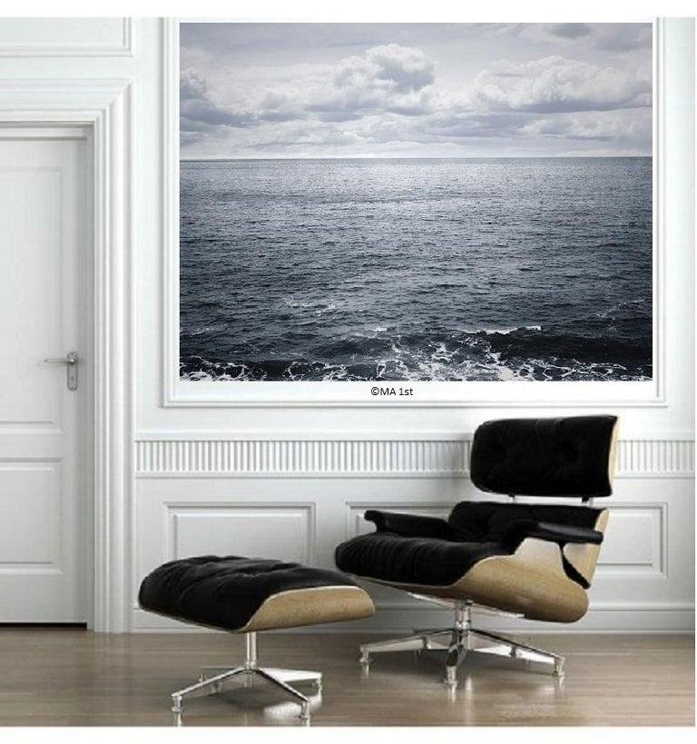 Ocean landscape photography - Atlantic Ocean n.3  - 41 x 53 in.custom acrylic  - Contemporary Photograph by Henning Bock