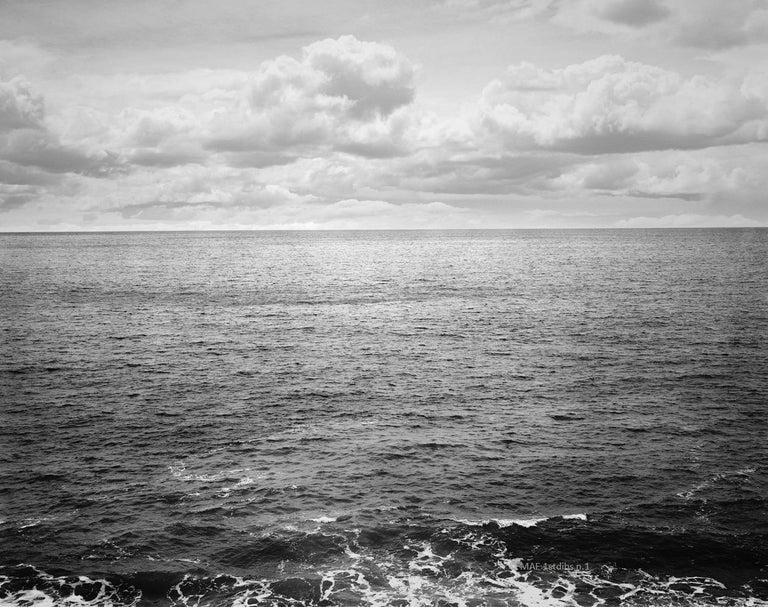 Ocean landscape photography - Atlantic Ocean n.3  - 41 x 53 in.custom acrylic  - Gray Color Photograph by Henning Bock