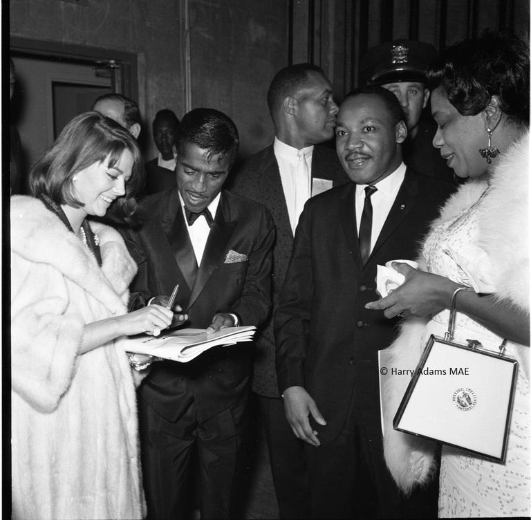 """Harry Adams Black and White Photograph - Icons, people - 20x20"""" C - Martin Luther King Jr., Sammy Davis Jr, Natalie Wood"""