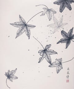 Contemporary Chinese Ink - Floating Leaves I, 2019