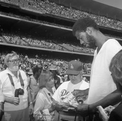 "Icons and people -12x12"" C print - Kareem Jabbar, Tommy Lasorda 1980 Los Angeles"