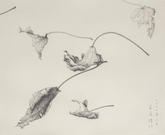 Drawing - Pencil on paper -  Study of Dancing with the Wind II - custom framed