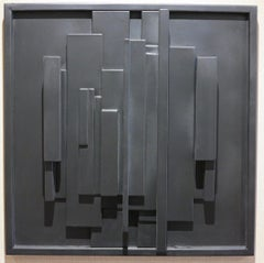 1969-PRZ (abstract wall relief sculptural painting)