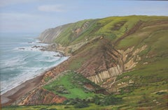 Tomales Point, Point Reyes CA (California coastal landscape painting)