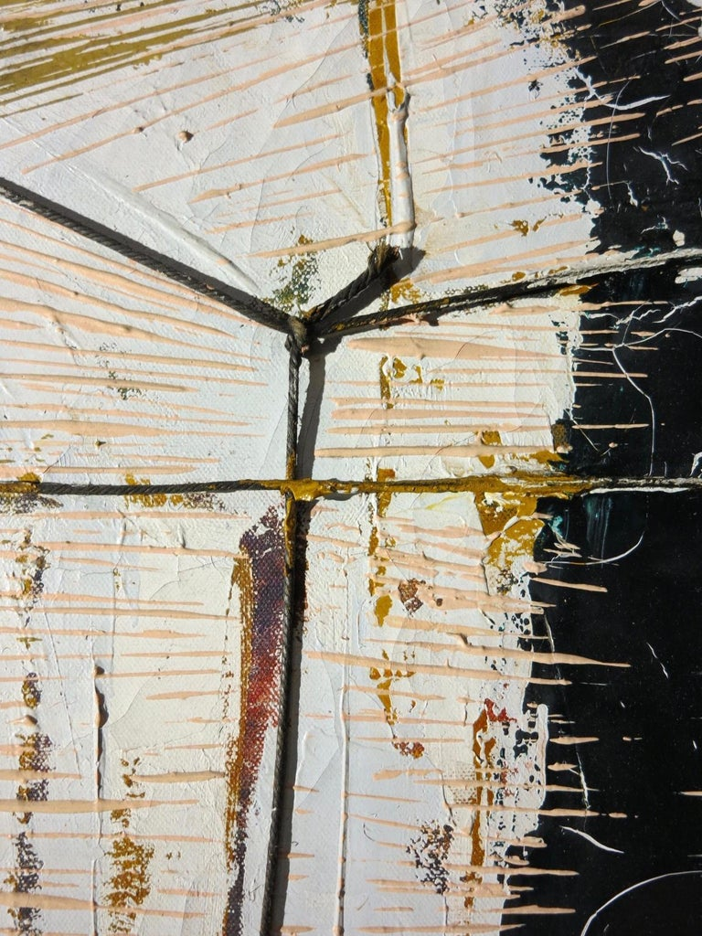 Black Boom w/ Twine (Abstract Expressionist painting) For Sale 2