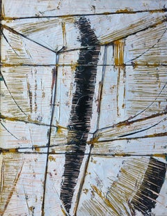 Black Boom w/ Twine (Abstract Expressionist painting)