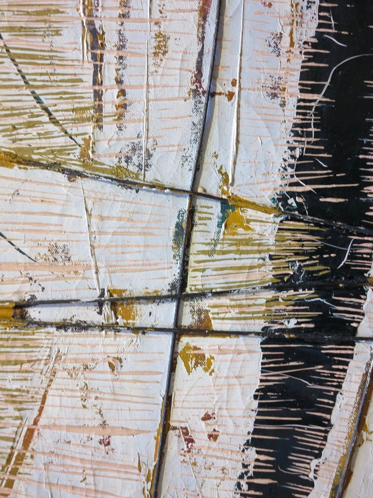 Black Boom w/ Twine (Abstract Expressionist painting) For Sale 3
