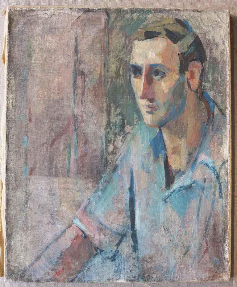 Portrait of a Man, Yaddo  - Painting by Rosemarie Beck