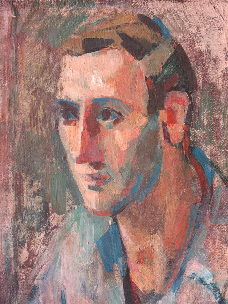 Portrait of a Man, Yaddo  - Abstract Painting by Rosemarie Beck