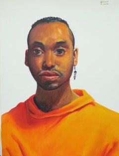 Untitled Male Portrait (Drop Earring)
