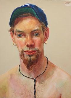 Untitled Male Portrait (Baseball Cap)