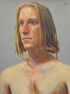Untitled Male Portrait (Long Hair)