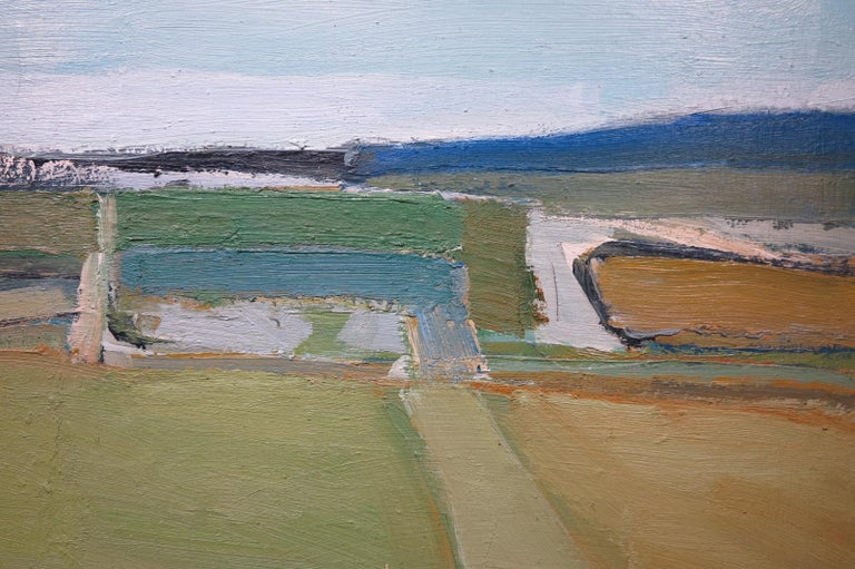 Kildee Field (abstract expressionist landscape) - Painting by Jeffrey Boys