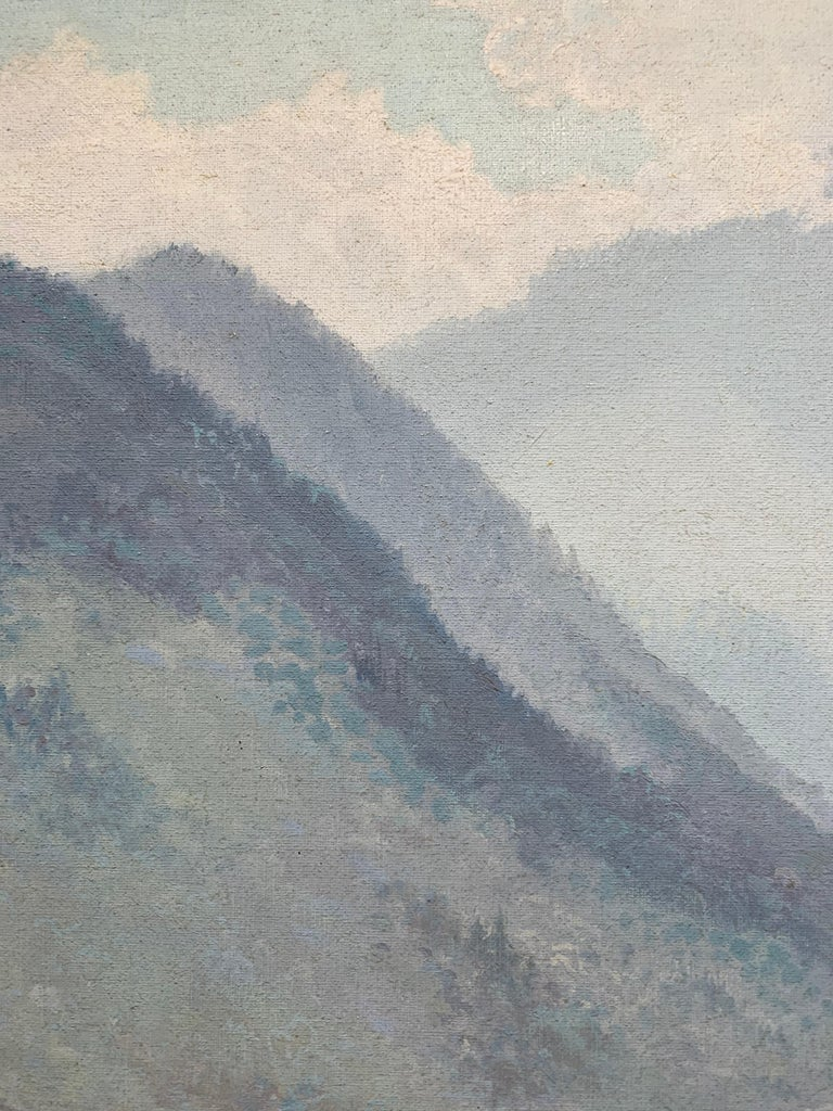 Mount Le Conte (Smoky Mountains Tennessee Landscape Painting) For Sale 2