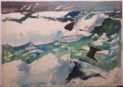Seagulls nautical Gulls seascape paintings