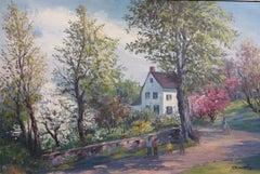 Wissahickon Philadelphia Landscape (PA Impressionist painting)