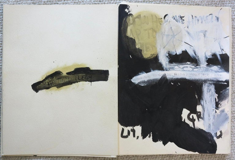 Richard Mann (1940-1990). Duino Elegies, 1981. Mixed media on rag paper, consisting of 43 sheets, each measuring 18 x 24 inches. Each vertical edge is hinged with mounting tape, resulting in a fold-out folio presentation. Entire measurement: 18