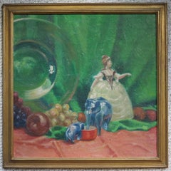 Still Life with Glass Plate and Figurines