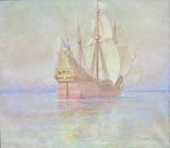 Spanish Galleon  (nautical seascape ship painting)