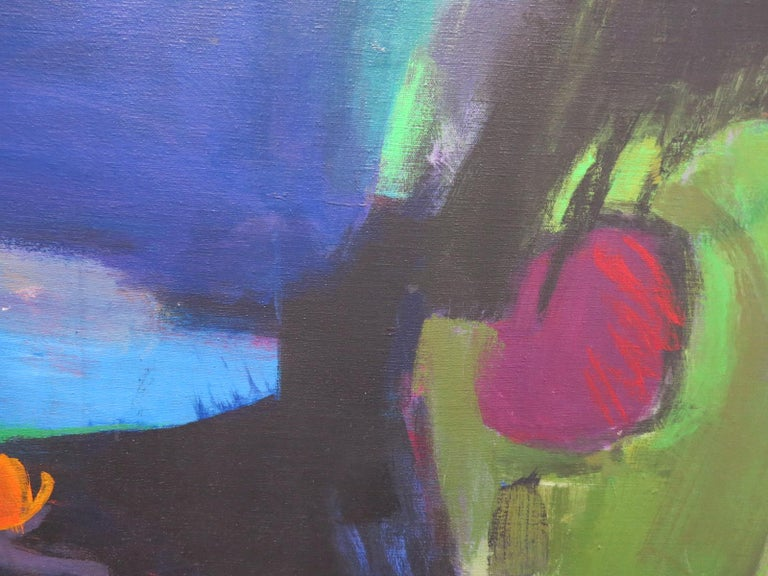 Spring Rain (abstract expressionist landscape) - Abstract Expressionist Painting by Judith Ingram