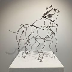 Bull (abstract wire sculpture)