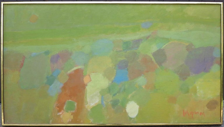 Judith Ingram  Landscape Painting - Landscape (abstract expressionist mid-century landscape)