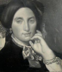 Portrait (Grisaille 19th-century woman)
