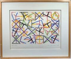 Eight Elements (Minimalist pastel drawing)