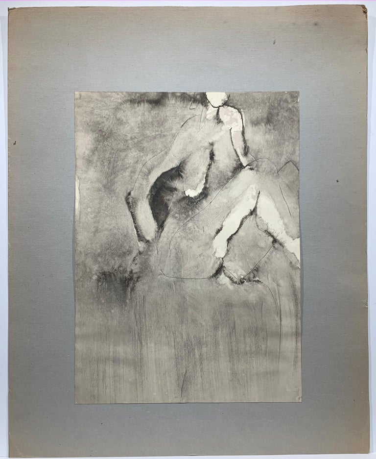 Nude (abstract woman) - Painting by Mikhail Koulakov