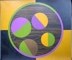 Untitled (Hard-Edge Geometric Abstract Painting)