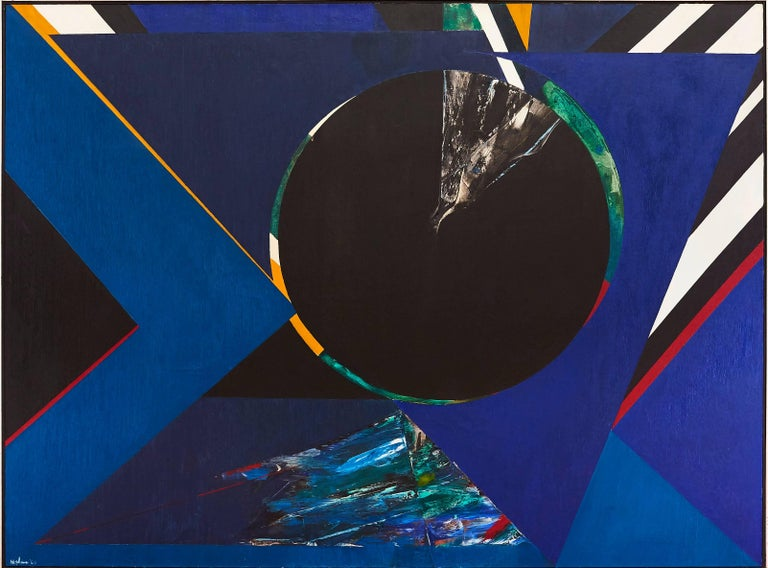 Budd Hopkins Abstract Painting - Untitled Blue Abstract