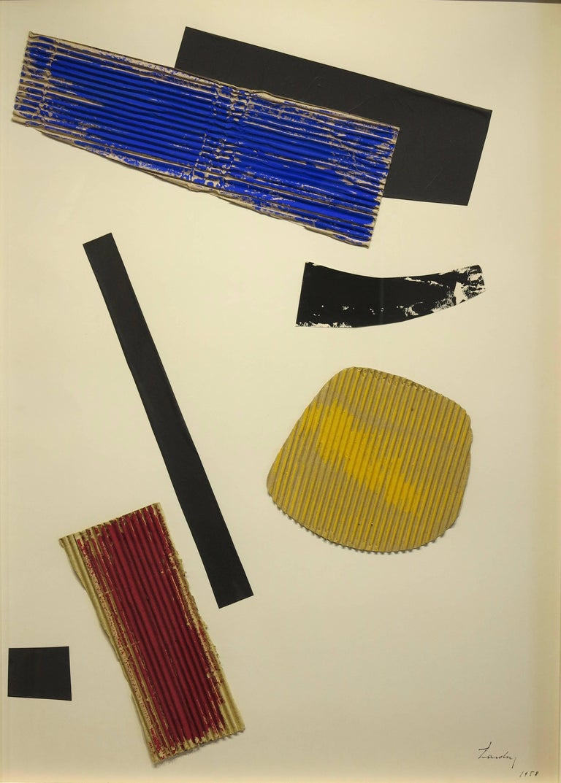 Berto Lardera Abstract Painting - Collage, 1958
