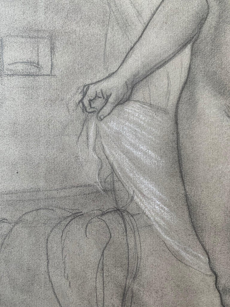Portrait of a Young Woman at her Bath (female nude) For Sale 1
