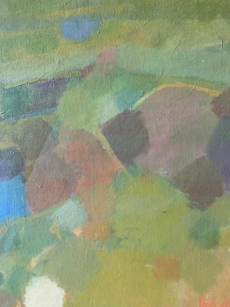 Landscape (abstract expressionist mid-century landscape) - Abstract Expressionist Painting by Judith Ingram