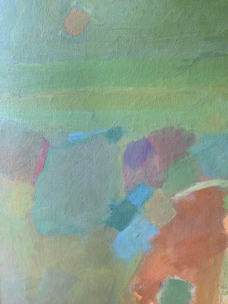 Landscape (abstract expressionist mid-century landscape) - Brown Landscape Painting by Judith Ingram