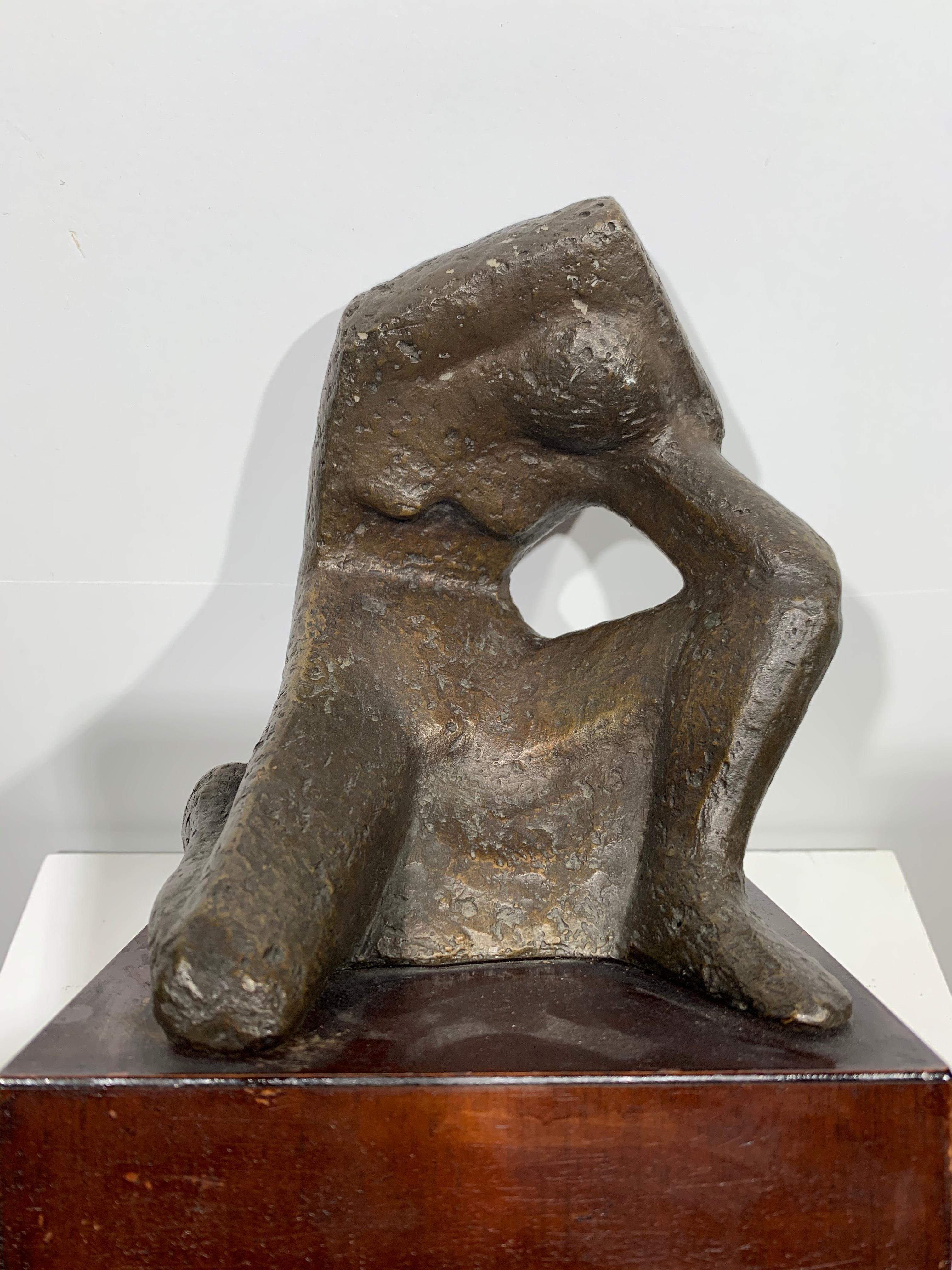 Female Figure (abstract woman bronze sculpture)
