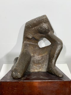 Female Figure (abstract woman bronze sculpture)