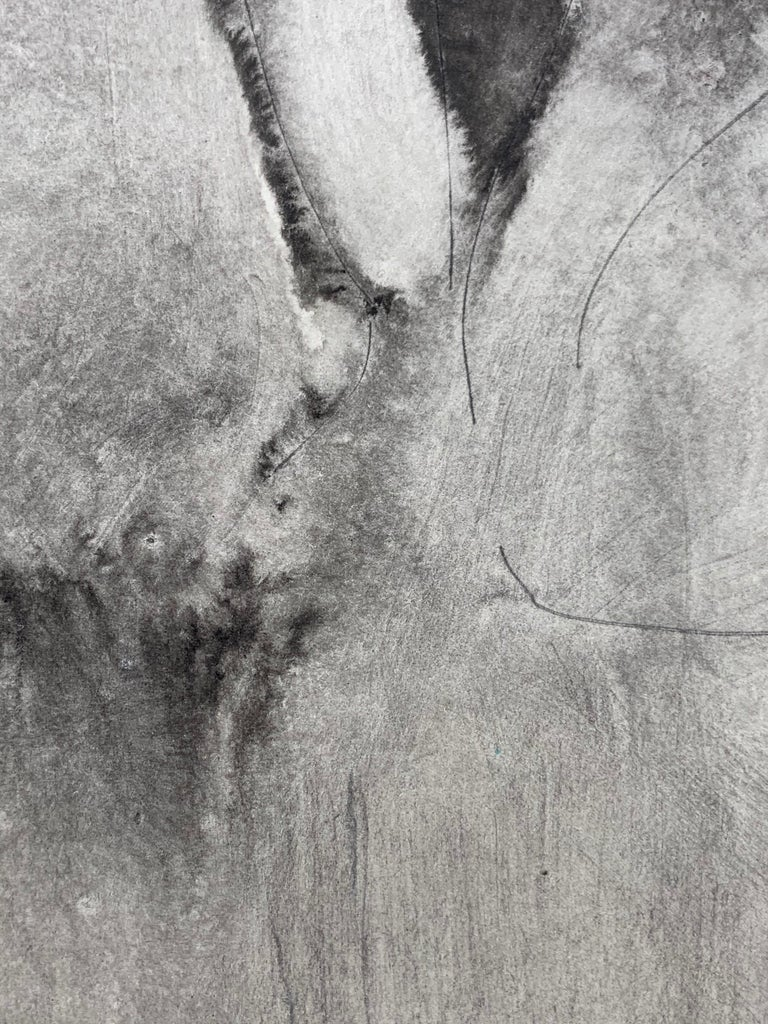 Nude (abstract woman) - Gray Abstract Painting by Mikhail Koulakov
