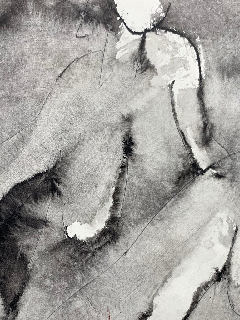Nude (abstract woman) - Abstract Expressionist Painting by Mikhail Koulakov