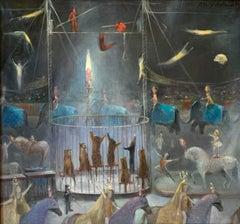 Circus (Big Top Tiger Cage Painting)