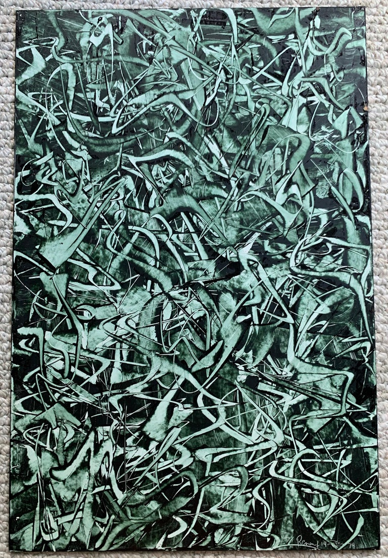 Edward Renouf Abstract Painting - Untitled (ER 53) Abstract Expressionist Painting