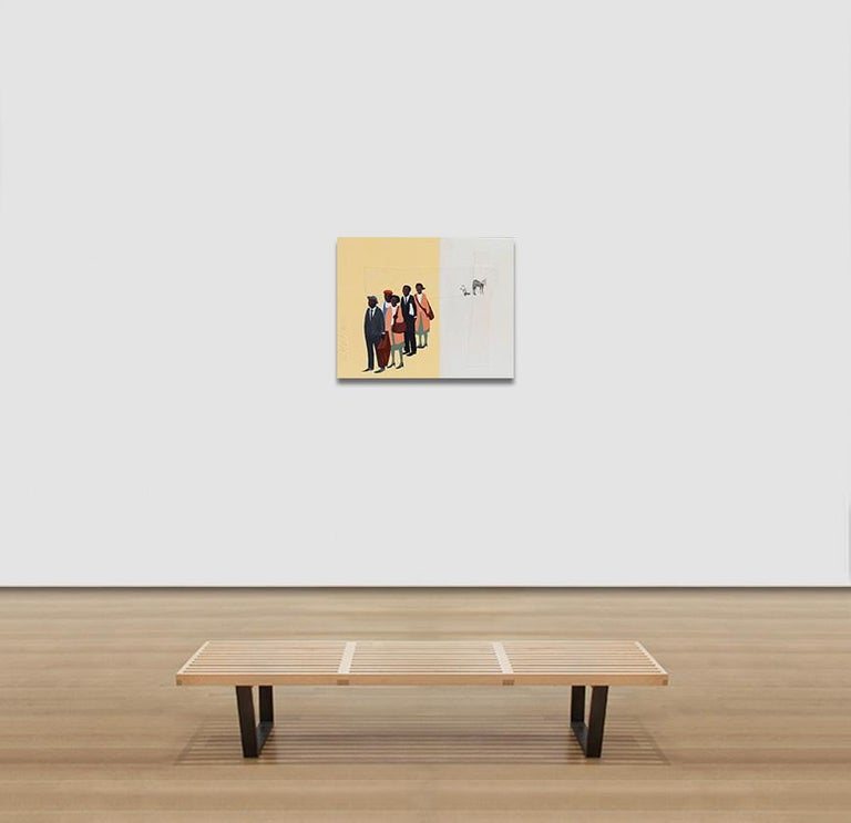 Monday Morning #2 - Figurative Painting with African American Figures For Sale 4