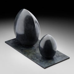 Genèse - Small Abstract Bronze Sculpture