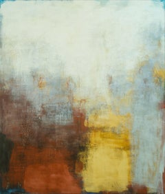 Sannio - Blue, Yellow and Red Large Abstract Landscape Oil Painting on Canvas