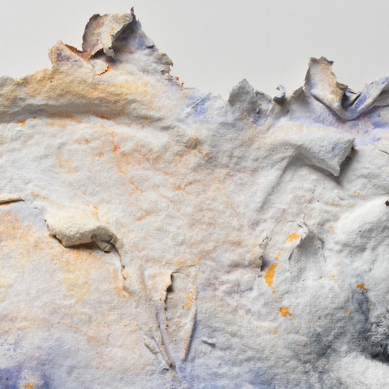 Brumalis Dies (Winter Solstice) - Small abstract blue and yellow work on paper For Sale 2