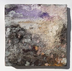 Terra Bruciata (Scorched Earth) #3 - Small abstract purple and black painting