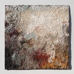 Terra Bruciata (Scorched Earth) - Small Abstract Painting with Raw Pigments